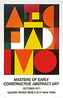 Affiche sérigraphie de Herbin Auguste : Masters of early constructive abstract art
