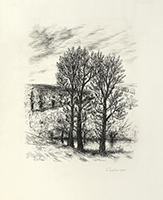 Gravure originale signée de  : Le cahier vert - Hors Texte, Planche 12