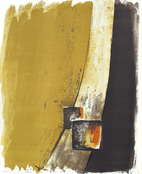 Original signed lithograph de  : Basaltic inclusion