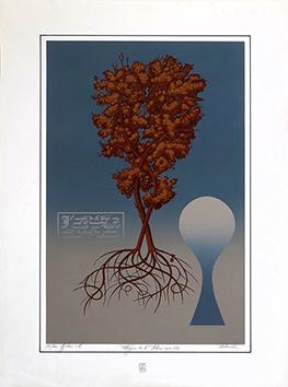 Sérigraphie originale signée de  : Allégorie de l'arbre Opus 276