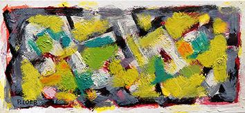 Originale Öl-Malerei de  : Komposition ohne Titel I