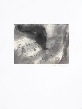 Signed drawing in ink de  : Composition without title XIX