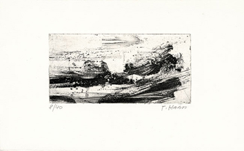 Original signed etching de Haass Terry : Christmas 65