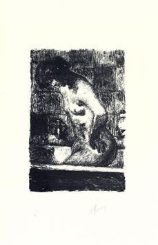 Bonnard Pierre : Lithographie signée : Femme debout dans sa baignoire