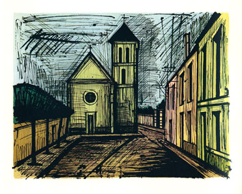 Original lithograph de  : Church of Verrière