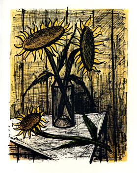 Buffet Bernard : Lithographie originale : Les soleils