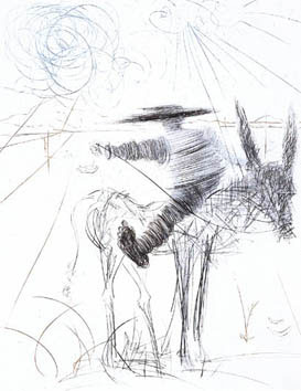 Dali Salvador : Gravure originale : Sancho Pança