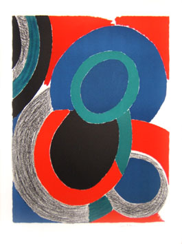 Delaunay Sonia : Lithographie : Vol de nuit
