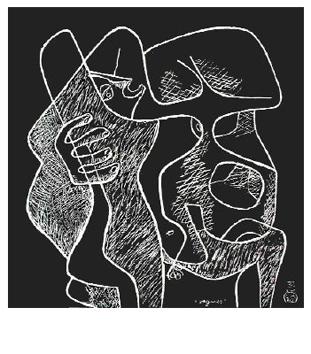 Le Corbusier : Lithographie originale : Vagues