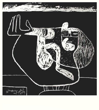 Le Corbusier : Lithographie originale : L'enfant est là