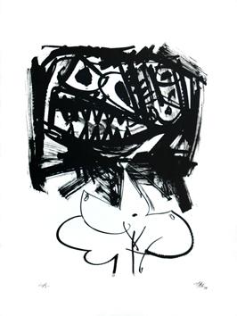 Saura Antonio : Lithographie originale signée : Burraqueña