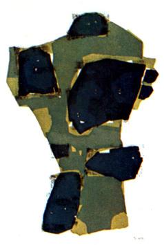 Ubac Raoul : Lithographie signée : Arbres et pierres II