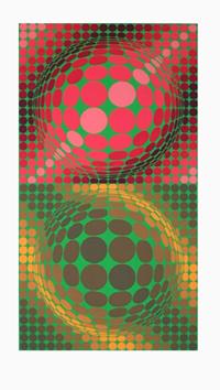 Vasarely Victor : Sérigraphie originale : Composition C