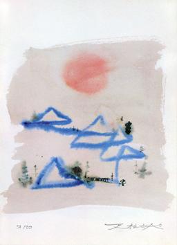 Zao Wou Ki : Sérigraphie signée : Carnet de voyage I