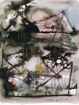 Zao Wou Ki : Sérigraphie signée : Carnet de voyage II