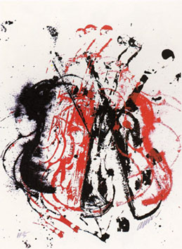 Original screenprint de  : Violent violins