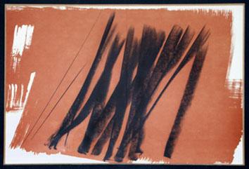 Hartung Hans : Lithographie originale signée : Farandole