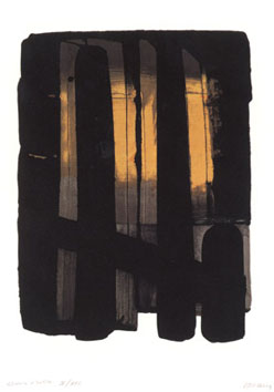 Soulages Pierre : Lithographie originale : Lithographie 38