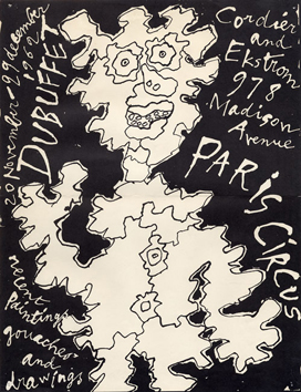 Dubuffet Jean : Affiche originale : Paris Circus