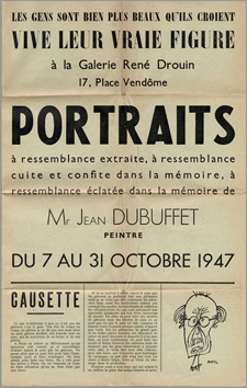 Dubuffet Jean : Reproductions : Portraits