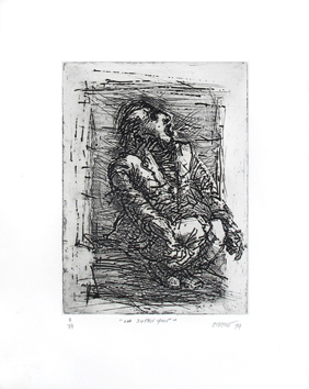 Original signed etching de  : La supplique