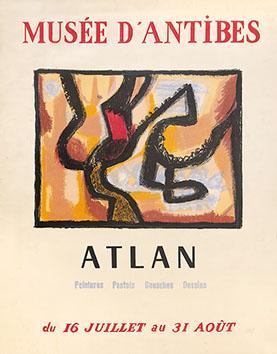 Affiche lithographie originale de  : Musée d'Antibes