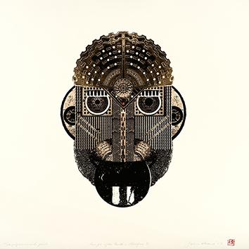 Estampe originale signée de  : Masque 5