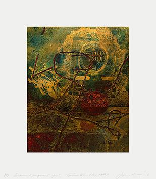 Lithographie originale signée de  : Place Matte 2