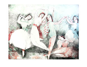 Original lithograph de  : Festivals of the dance