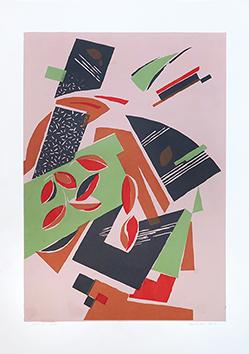 Serigrafia originale firmata de  : Composizione 14 - Série 1