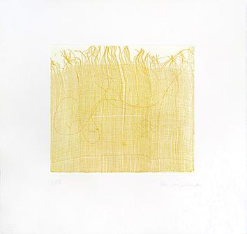 Gravure originale signée de  : Eloge du jaune I