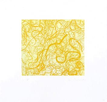 Gravure originale signée de  : Eloge du jaune IV
