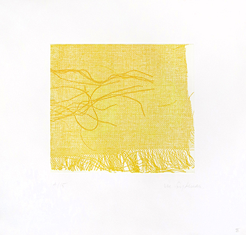 Gravure originale signée de  : Eloge du jaune III