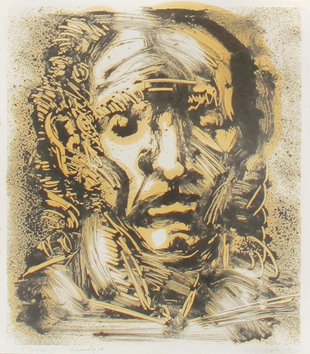 Signierte Originalmonotype de  : Der Inder