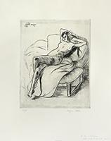 Original signed etching de  : Christiane