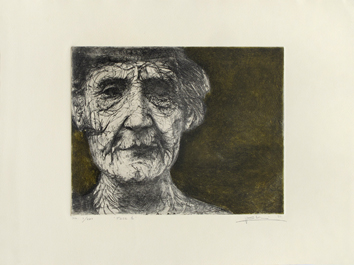 Original signed etching de Elvieri Vladimiro : Face 1