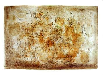 Zao Wou Ki : Litografia originale firmata : L'alba