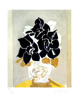 Original etching de Braque Georges : Les amaryllis
