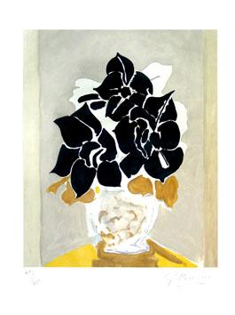 Braque Georges : Gravure originale : Les amaryllis