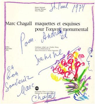 Chagall Marc : Dessin : Dessin et dédicace