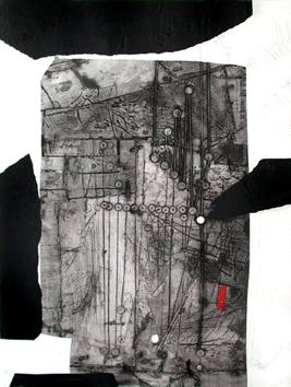 Clavé Antoni : Gravure originale signée : Composition