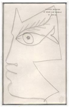 Cocteau Jean : Dessin original : Profil