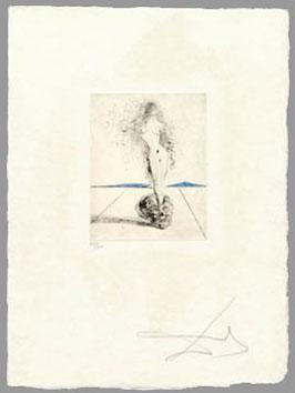 Dali Salvador : Gravure originale signée : Venus