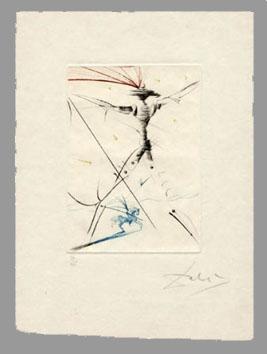 Dali Salvador : Gravure : Le petit chevalier