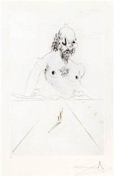 Dali Salvador : Gravure originale : Le Colosse
