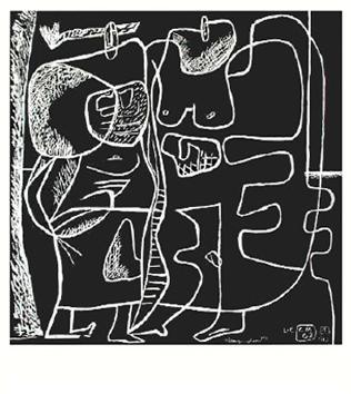 Le Corbusier : Lithographie originale : Long volant