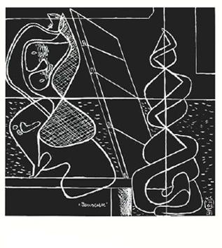 Le Corbusier : Lithographie originale : Danseuse