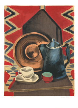 Original signed lithograph de  : Still life