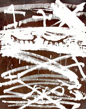 Tàpies Antoni : Bois gravé original : Composition