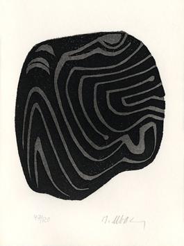 Ubac Raoul : Gravure eau-forte originale : L'herbe déracinée
